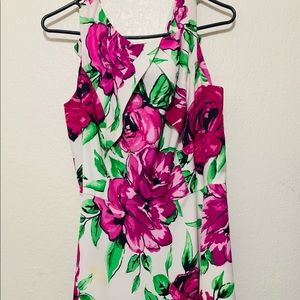 AGB FLORAL MID LENGHT DRESS Size 16
